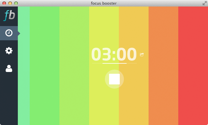 Visually keep track of your session progress with this nifty colour changing pomodoro timer