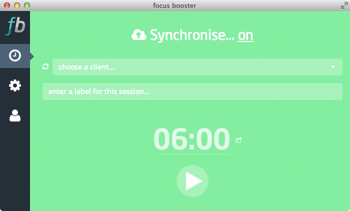 We've kept things nice and simple with the focus booster timer